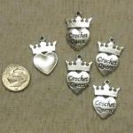 Special Crochet Queen Charms