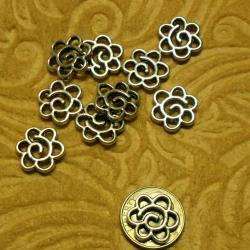Ten Spiral Posie Charms or Connectors